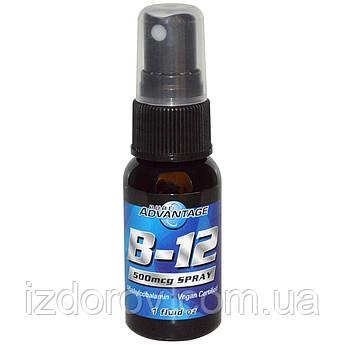 Pure Advantage, Вітамін B-12 спрей 500 мкг, сублінгвальних метилкобаламін, 30 мл
