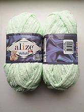 Пряжа Alize Веллуто Velluto (Ализе)  цвет 464 мятный