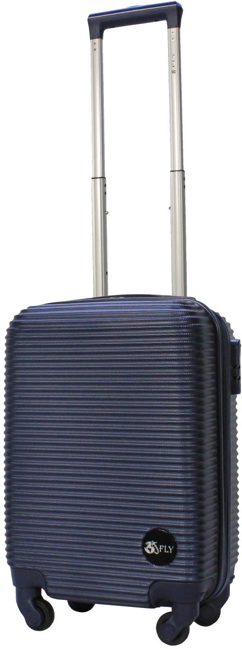 Чемодан пластиковый на 4х колесах мини  XS тёмно-синий | 20х51х35 см | 2.400 кг | 27 л | FLY 91240