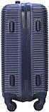 Валіза пластикова на 4х колесах середня M темно-синя   25х65х42 см   3.150 кг   62 л   FLY 91240, фото 3