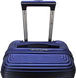 Валіза пластикова на 4х колесах середня M темно-синя   25х65х42 см   3.150 кг   62 л   FLY 91240, фото 6