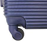 Валіза пластикова на 4х колесах середня M темно-синя   25х65х42 см   3.150 кг   62 л   FLY 91240, фото 9