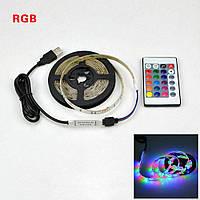 Комплект светодиодной ленты RGB с блютузом в силиконе с пультом 5 м