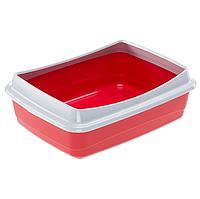 Открытый лоток для кошек Ferplast NIP PLUS 47 х 36 х h 15.5 см - 10 PLUS, Красный