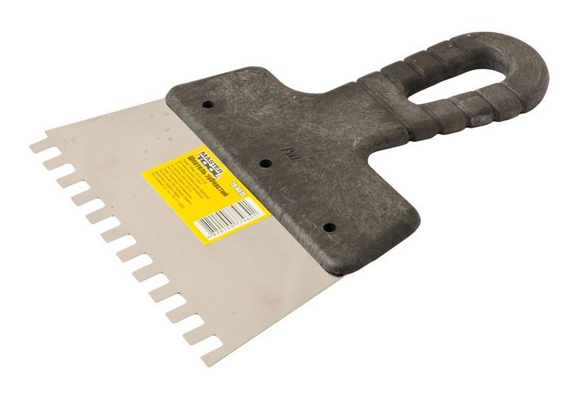 Шпатель зубчастий 150х6х6 мм MASTERTOOL (19-6615)