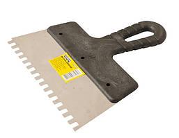 Шпатель зубчатый 200х6х6 мм MASTERTOOL (19-6620)