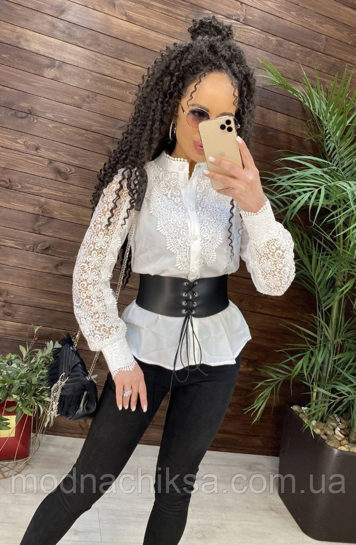 Шикарная кружевная  блуза