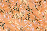 """Сатин ткань """"Большие травы"""" на жёлто-оранжевом фоне, №3436с, фото 5"""