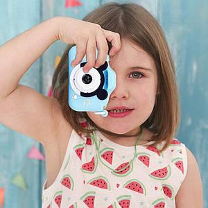 Цифровой детский фотоаппарат видеокамера мини GM14 синий противоударная  селфи-камера для малышей