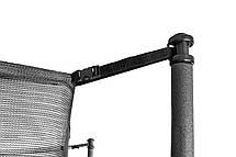 Батут для прыжков детский Hop-sport 12ft ( 3метра ) с внешней сеткой и лестницей черно-зеленый, фото 3