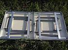 Складаний стіл і стільці для пікніка easy campi 1+4 120х60х70см | Стіл для пікніка посилений, фото 9