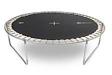 Батут для прыжков с внешней сеткой Hop-Sport садовый до 150кг черно-синий, фото 3