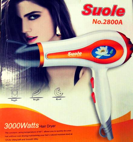 Профессиональный фен для волос Suole (Суоле) 2800А, фото 2