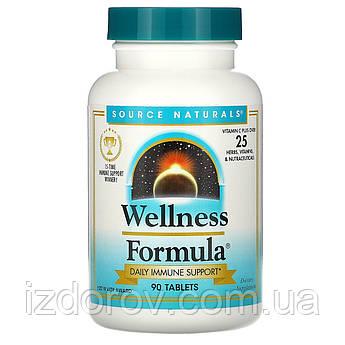 Source Naturals, Wellness Formula, поддержка иммунитета, 90 таблеток