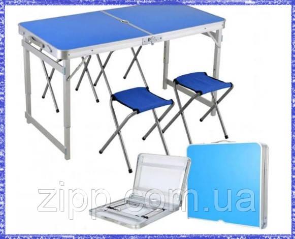 Складаний стіл і стільці для пікніка easy campi 1+4 120х60х70см | Стіл для пікніка посилений