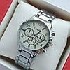 Жіночі наручні годинники Guess срібло з білим циферблатом, хронографи, дата - код 1975