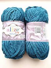 Пряжа Alize Веллуто Velluto (Ализе)  цвет 646 петроль