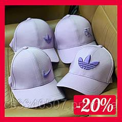 Брендовая кепка Adidas. Сиреневая бейсболка Адидас(4 вида)