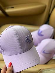 Брендовая кепка Calvin Klein. Сиреневая бейсболка Кельвин Кляйн (4 вида)