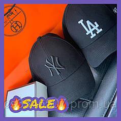 Брендовая бейсболка New York Yankees. Черная кепка (5 видов)