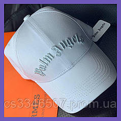 Брендовая бейсболка Palm Angels. Белая кепка (5 видов)