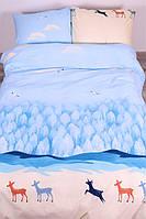 Комплект постельного белья Полуторный(150х205) Олени Ранфорс от Brettani