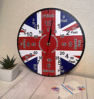Часы для кабинета английского языка, обучающие из акрила
