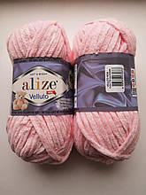 Пряжа Alize Веллуто Velluto (Ализе)  цвет 732 розовый
