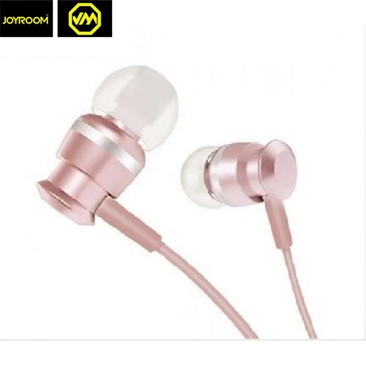 Наушники проводные JOYROOM JR-EL122 с микрофоном Rose-Gold
