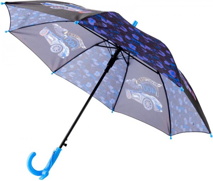 Зонт-трость Kite Kids Hot Wheel полуавтомат Черный (HW20-2001)