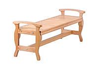 Скамейка деревянная садовая серии Модерн