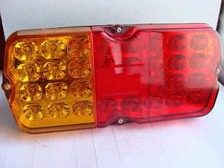 Ліхтар УАЗ 469, 452 ТЮНІНГ (причепи) LED діодний (ціна за 1шт) (Червоно - помаранчеві)