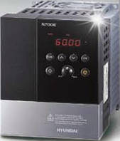 Частотный преобразователь HYUNDAI N700E-004SF  0,4 кВт, номинальный ток 3 А, 200-240В, производство Корея