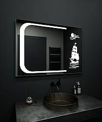Зеркало LED (98*70*2,5см) VZ-AL-D33 с сенсором