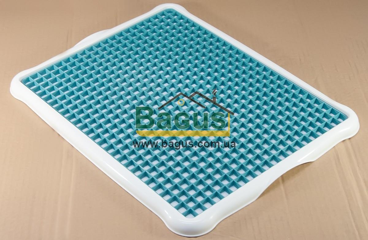 Сушарка-піднос для посуду і фруктів пластикова 43,5х34х2см (колір - бежевий) Hobby Life 1306-7