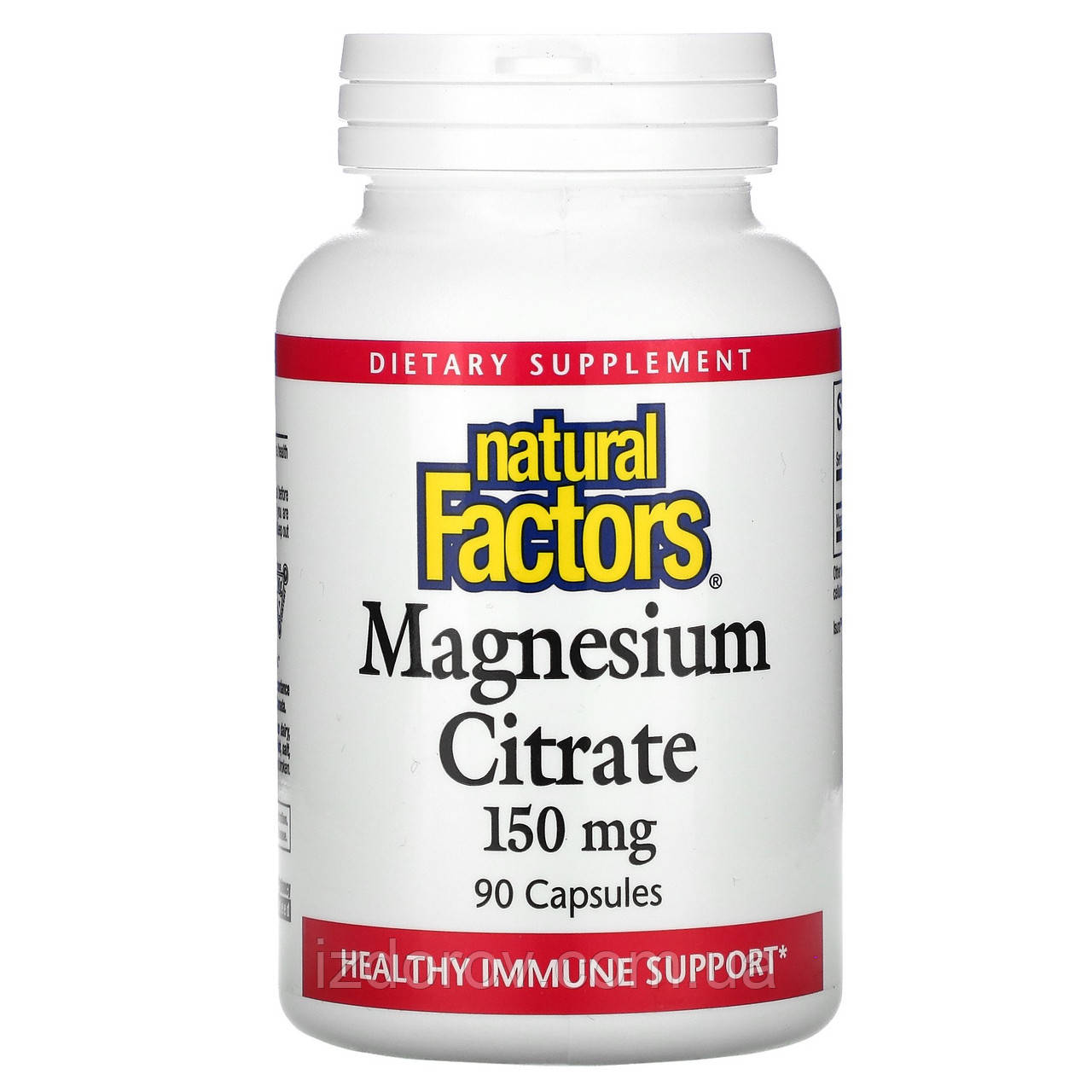 Natural Factors, Цитрат магнію, 150 мг, Magnesium Citrate, 90 капсул
