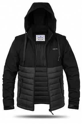 Куртка мужская трансформер Freever GF 8314 черная, фото 2