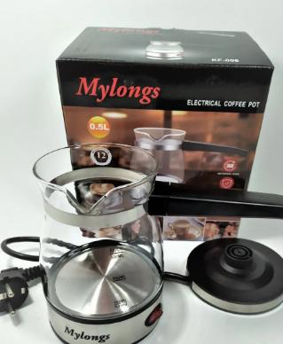 Турка електрична скляна кавоварка 0,5 л Mylongs KF-008 600Вт