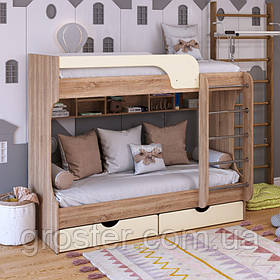 Дитяча двох'ярусна ліжко Юнга МДФ з ящиками