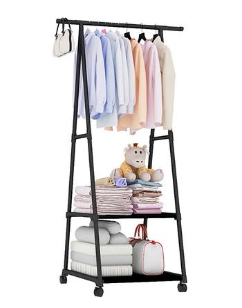 Універсальна міцна підлогова пересувна вішалка для одягу Coat Rack