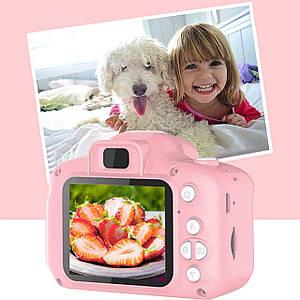 Цифровой детский фотоаппарат видеокамера мини GM14 розовый противоударная  селфи-камера для малышей