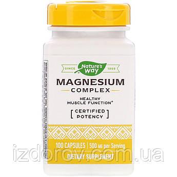 Nature's Way, Магниевый комплекс, Magnesium Complex, 100 капсул
