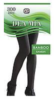 Колготки плотные из бамбуковой пряжи DEA MIA Bamboo 300 р.3, nero