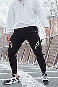 Мужские брюки-карго Пушка Огонь Angry Flash XS молодежные черные штаны cargo весна подростковые брюки карго