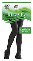 Колготки плотные из бамбуковой пряжи DEA MIA Bamboo 300 р.4, nero