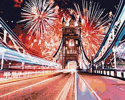 Феєрверки над мостом