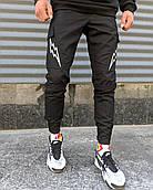 Мужские брюки-карго Пушка Огонь Angry Flash M молодежные черные штаны cargo весна подростковые брюки карго