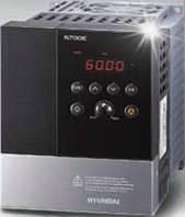 Частотный преобразователь HYUNDAI N700E-007HF мощность 0,75 кВт, номинальный ток 3,4 А, 380-480В, производство