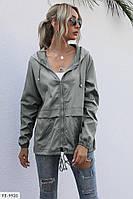 Ветровка женская модная свободного кроя котоновая р-ры 42-48 арт. 073