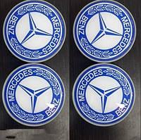 Mercedes CLK W208 Колпачки в оригинальные диски (4 шт) 71мм внешний (67 мм внутренний)